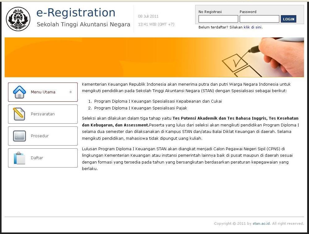 Petunjuk Pengisian Registrasi Online Prodip Stan Info